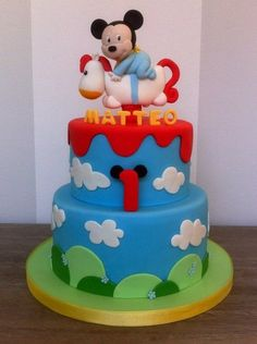 Baby mickey and the rocking horse Cake