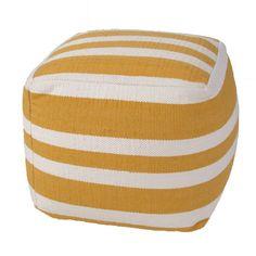 Jaipur Rugs Pasco Stripe Cotton Pouf Ottoman & Reviews | Wayfair