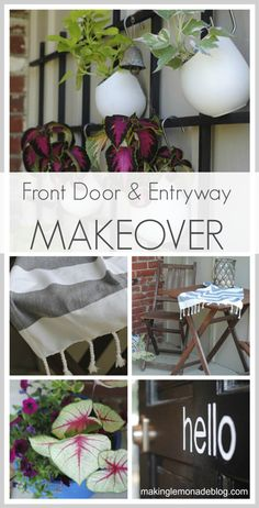 Check out the before & after with this front door and entryway makeover.