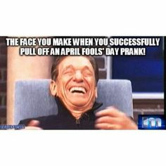 The joy of April fools day Pull Off, April Fools Day, Pranks, Lol, Entertaining, Memes, Funny, Face, Happy
