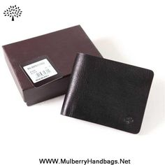 Mulberry Mens Wallet Black Outlet USA