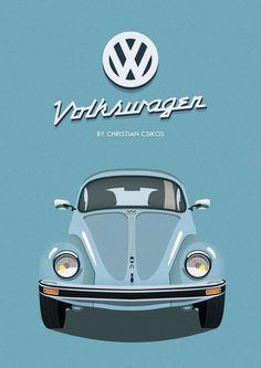 Volkswagen Beetle By Christian Csikos  #beautiful #graphicdesign #photoshop #illustrator #vector #graphic #volkswagen #Veteran
