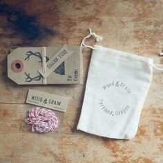 Woodland To/From Gift Tags with Red & White Twine