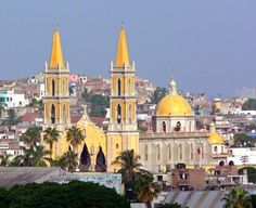 mazatlan mexico | Yellow cathedral in Mazatlan, Mexico