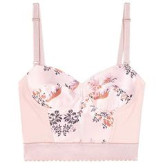 Stella McCartney Jacquard Crop Top Bustier ($740) ❤ liked on Polyvore featuring tops, crop top, cropped, pink, bustier crop tops, pink top, jacquard top, pink bustier top and cut-out crop tops