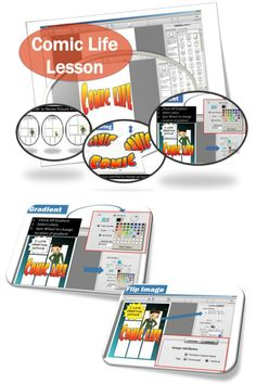 •Turn your photos into a comic •Fonts, templates, panels, balloons, captions and lettering art  •Great for doing school projects, how to guides, lesson plans and book reports.  This lesson includes screen shots and instructions for teaching students how to use Comic Life.