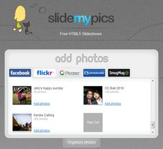 SlideMyPics: Create and Share Photo Slideshows for Free