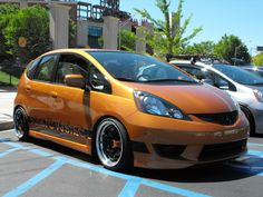 wanna see those pimped - Unofficial Honda FIT Forums Honda Jazz, Honda Fit, Orange Revolution, Clarks Summit, Shoe Box, Jdm, Photo And Video, Cars, Nice