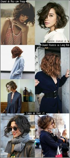 Bottom right cut is perfect Medium Hair Styles, Curly Hair Styles, Natural Hair Styles, Short Curly Hair, Short Hair Cuts, Grunge Hair, Stylish Hair, Mode Outfits, Bad Hair
