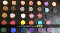 Swatching All Of Our Shadows on the SNAPCHAT!  Their so beautiful, our palettes and some of our individual shadows together (shades listed below Right to left/left to right)! Go buy yours at www.charisjoybeauty.com        Follow: @charisjoybeauty  on SNAPCHAT to see swatches!                                                                    (Row1) Biscuit, Blowdry, Misfit, Rusted, Encore, Klik, Kiss&Tell (Row2) Brownie, Savannah, New Cool, New Cool, Date Night, Ego, Rumours (Row3) Ochre…