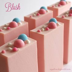 """Blush"" handmade soap, by sapolinasoaps"