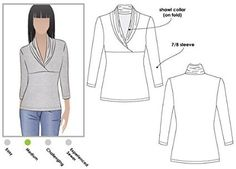 Style Arc Sewing Pattern - Kendall Knit Top (Sizes 04-16) - Click for Other Sizes Available