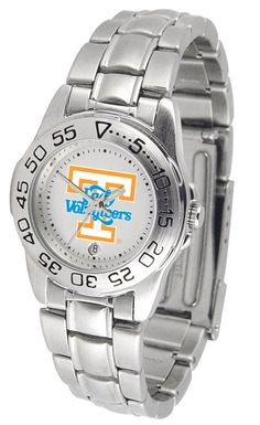 This handsome, eye-catching watch comes with a - stainless steel link bracelet. - A date calendar function plus a - rotating bezel/timer circles the - scratch-resistant crystal. - Sport the bold, colo