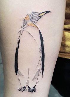 Dani Bastos penguin tattoo