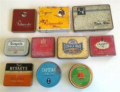 10x Vintage Tins Tobacco Cigarettes Cigars Lozenges Pastilles