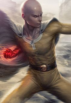 Saitama - One Punch Man, by Stanley Lau (Deviant Art name: Artgerm). Anime Yugioh, Anime K, Anime Body, Anime Pokemon, Anime Plus, Female Anime, Sad Anime, Kawaii Anime, Saitama One Punch Man