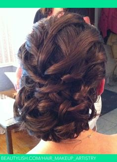 Curly Girl Updo!