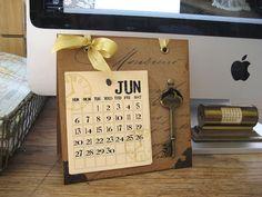 2013 Desktop Calendar tutorial ~ One Lucky Day 2013 Calendar, Calendar Pages, Desktop Calendars, Calendar Ideas, Advent Calendar, Cute Gifts, Diy Gifts, Cnc, Craft Tutorials