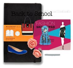 """school time"" by tabitha-escoe ❤ liked on Polyvore featuring Moleskine, J.Crew, Wallis and Retrò"