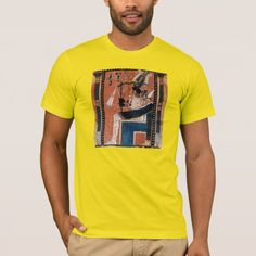 Shop Osiris Egyptian Black God Papyrus Reproduction T-Shirt created by ZapTime. Personalize it with photos & text or purchase as is! Egyptian, Fitness Models, God, Casual, Fabric, Sleeves, Cotton, Mens Tops, T Shirt
