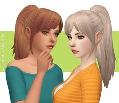 Aveira's Sims 4 — Nolan Sims Vivian Hair V2 - Recolor **Updated...