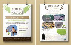 Día Mundial de las aves y Berrea del ciervo | Cristina Casas Poster . Bird . Deer