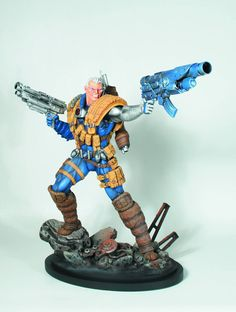 """Born in the present, raised in the future, the cybernetic mutant Nathan Summers is best known as Cable, the former leader of X-Force and protector of Hope. Based on his original appearance in the pages of New Mutants and X-Force, this Cable Classic Statue is sculpted by the Kucharek Brothers and stands 12"""" tall. Armed with his trademark heavy weaponry, Cable is the mutant you want on your side in a firefight."""