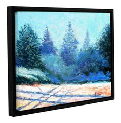 Tree Side by Gene Foust Floater Framed Painting Print on Wrapped Canvas