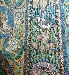 "The ""doves"" theme from San Vitale, Ravenna, Italy  enmosaicology: March 2010  http://mosaicology.blogspot.com/2010_03_01_archive.html#"