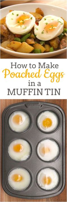 Poached Egg Got a muffin tin? Then you have the secret to making a dozen poached eggs all at once in the oven — with less time and effort than the traditional hot water method. Now invite your friends over for an eggs Benedict brunch and get cracking! Breakfast Dishes, Breakfast Time, Breakfast Casserole, Breakfast Ideas, Egg Dishes For Brunch, Breakfast Recipes With Eggs, Muffin Tin Breakfast, Brunch Buffet, How To Make A Poached Egg