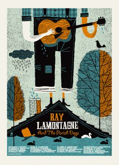 Ray Lamontagne 2011 Tour (house) poster by Methane Studios (SOLD OUT) - Methane Studios - Gallery