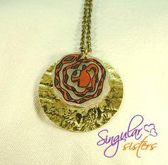 """Colgante Colección """"Trazos""""112 de Singular Sisters por DaWanda.com €18"""
