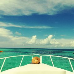 Saltlife... my favorite place in the world, the tip of the boat, sokain up the sun!