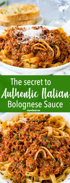 We should have posted The Secret to Authentic Italian Bolognese Sauce Recipe last year after we returned from Italy, but better late than never! sauce recipes healthy Authentic Italian Bolognese Sauce Recipe (+ Video) - Oh Sweet Basil Spaghetti Bolognaise, Sauce Spaghetti, Beef Recipes, Cooking Recipes, Healthy Recipes, Fast Recipes, Cooking Games, Healthy Dishes, Potato Recipes
