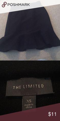 The Limited size XS peplum style black knit skirt The style is fitted The Limited Skirts Pencil