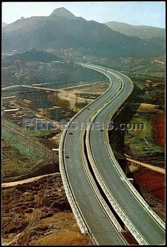 Foto antigua de Autopista del Mediterráneo en Barcelona