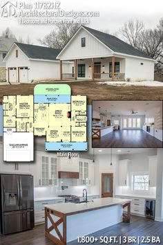 Architectural Designs Farmhouse House Plan 11782HZ client-built in Missouri. 3 BR | 2.5 BA | 1,800+ sq. ft. Ready when you are. Where do YOU want to build? #11782HZ #adhouseplans #architecturaldesigns #houseplan #architecture #newhome #newconstruction #newhouse #homedesign #dreamhome #dreamhouse #homeplan #architecture #architect #housegoals #Modernfarmhouse #Farmhousestyle #farmhouse
