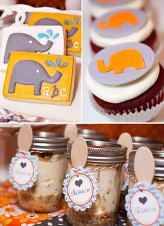 Elephant shower...super cute idea.  Trying to figure out how to incorporate this into my business.