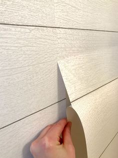 how to hang shiplap wallpaper. Is shiplap wallpaper for you? Normal Wallpaper, How To Hang Wallpaper, Diy Wallpaper, Peel And Stick Wallpaper, Bedroom Wallpaper, Shiplap Wall Paper, Painting Shiplap, Paper Walls, Buy Shiplap
