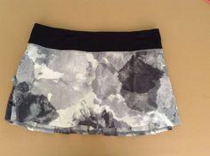 Lululemon Run Pace Setter Skirt Milky Way Black Gray Cream Size 8 RARE #Lululemon #Shorts