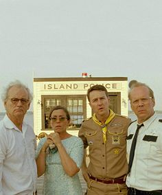 Picture: Bill Murray, Frances McDormand, Edward Norton and Bruce Willis in 'Moonrise Kingdom.' Pic is in a photo gallery for 'Moonrise Kingdom' featuring 33 pictures. Edward Norton, Bill Murray, Tilda Swinton, Bruce Willis, Boy Scouts, Wes Anderson Films, Love Movie, Movie Tv, Movies Showing