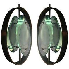 Original Pair Pendant Lights by Max Ingrand for Fontana Arte, Model 1933, 1961