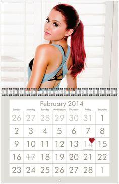 ARIANA GRANDE 2014 Wall Calendar - $16