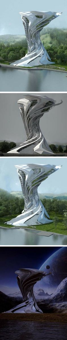 Futuristic hotel architecture - sci-fi concept for Mexico | The ESSÂM Centre is a Sci-Fi concept design for a hotel in Chiapas, Mexico. The project was designed by Skyler | ARQ that combines futuristic architecture with recovered elements in a harmonious contrast between future and nature. #futuristic #architecture #scifi #hotel