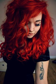 Bright red.  #hair #beauty