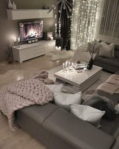 28 Cozy Living Room Decor Ideas To Copy Loving this grey modern and c. - 28 Cozy Living Room Decor Ideas To Copy Loving this grey modern and cozy living room dec - Living Room Decor Cozy, Living Room Interior, Home Living Room, Living Room Designs, Bedroom Decor, Cozy Living Room Warm, Decor Room, Bedroom Ideas, Wall Decor