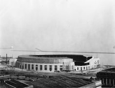 Cleveland: Cleveland Municipal Stadium shortly after construction, ca 1931. Future home of the Browns and Indians.