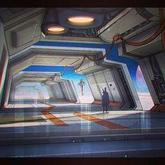 """Sing nonomori - hopeless warriors. Say nonomori - endless corridors. You were there. You were there."" #matthewart #matthewarmstrong #scifi #technocaverns #digitalpainting #spacestation #gravity #interstellar #oblivion #vizdev #conceptart #lightyears"