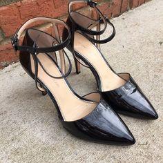 Antonio Melani blk patent lthr ankle strap heels Sz 6.5. In great shape! ANTONIO MELANI Shoes Heels