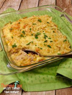 ThermoFun - Crispy-Topped Tuna Mornay Recipe Rate this recipe Gnocchi Recipes, Seafood Recipes, Cooking Recipes, Tuna Mornay Recipe, Apple Recipes Dinner, Mulberry Recipes, Spagetti Recipe, Tuna, One Pot Dinners